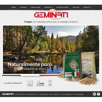 Rinnovo home page sito www.geminati.it