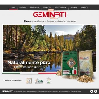 Rinnovo home page sito www.geminati.it