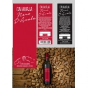 Etichetta vino fronte/retro Nero d'Avola